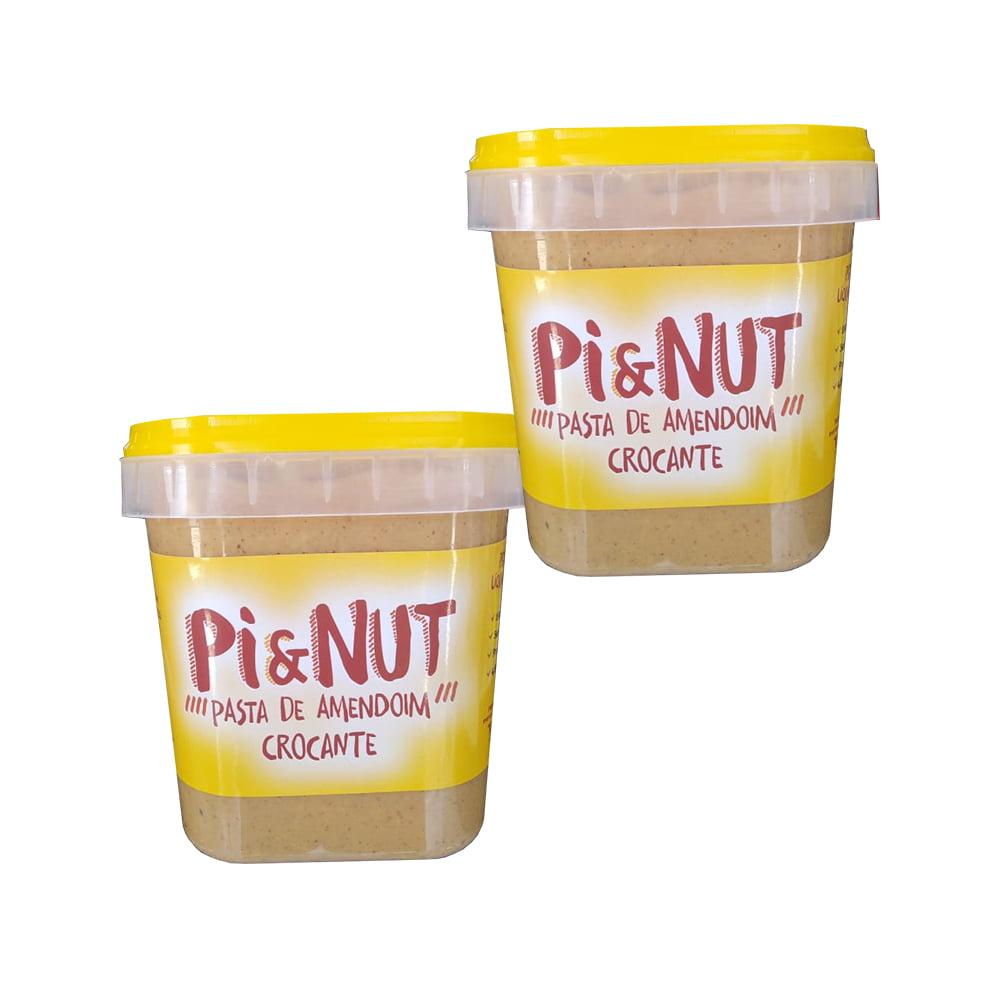 2Undi. pasta de amendoim 1kg crocante pienut