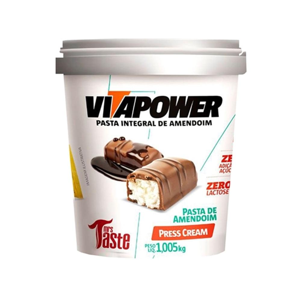 pasta de amendoim 1kg press cream vitapower