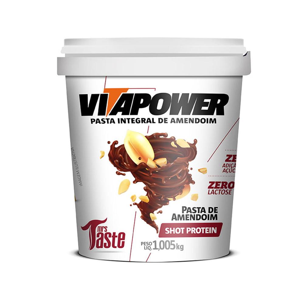 pasta de amendoim 1kg shot proteim vitapower