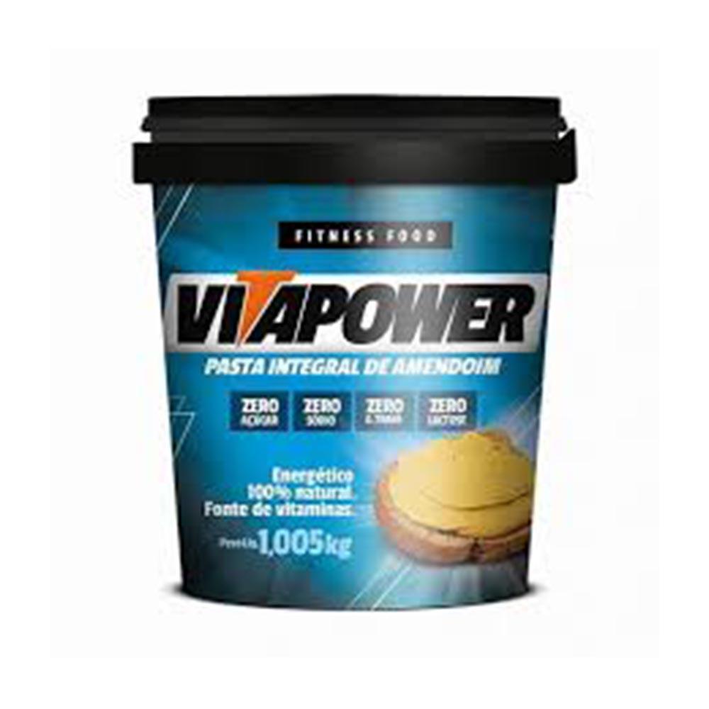 pasta de amendoim 1kg tradicional vitapower