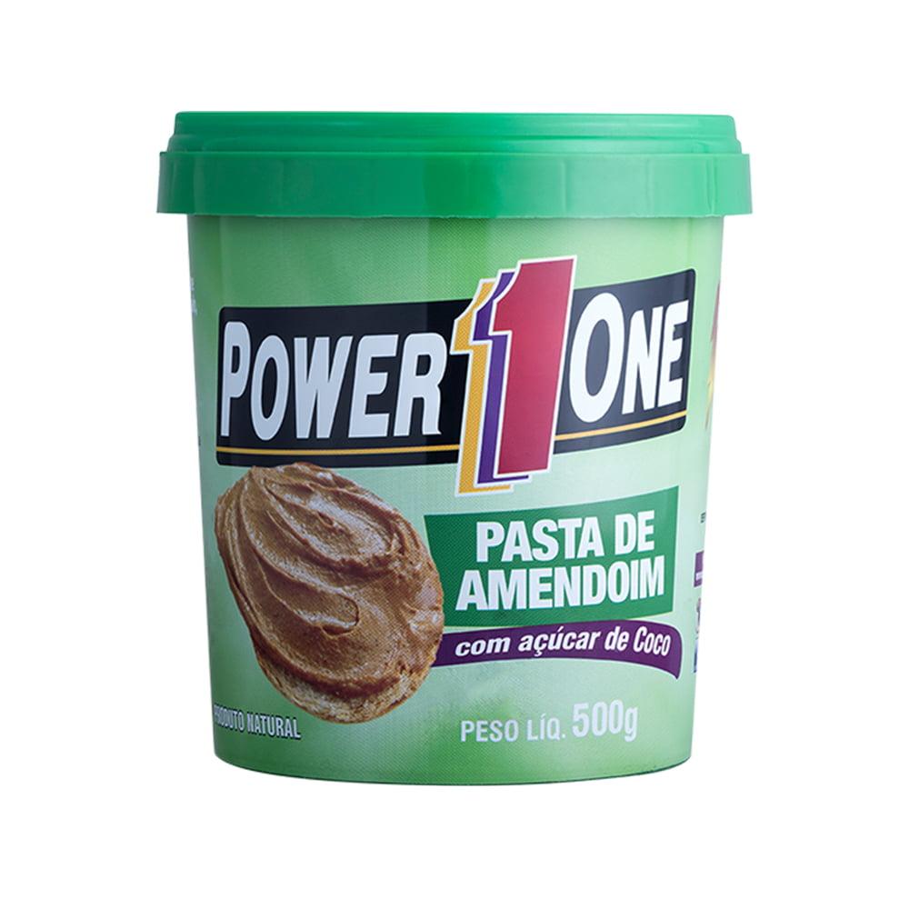 pasta de amendoim 500gr açúcar de coco power one