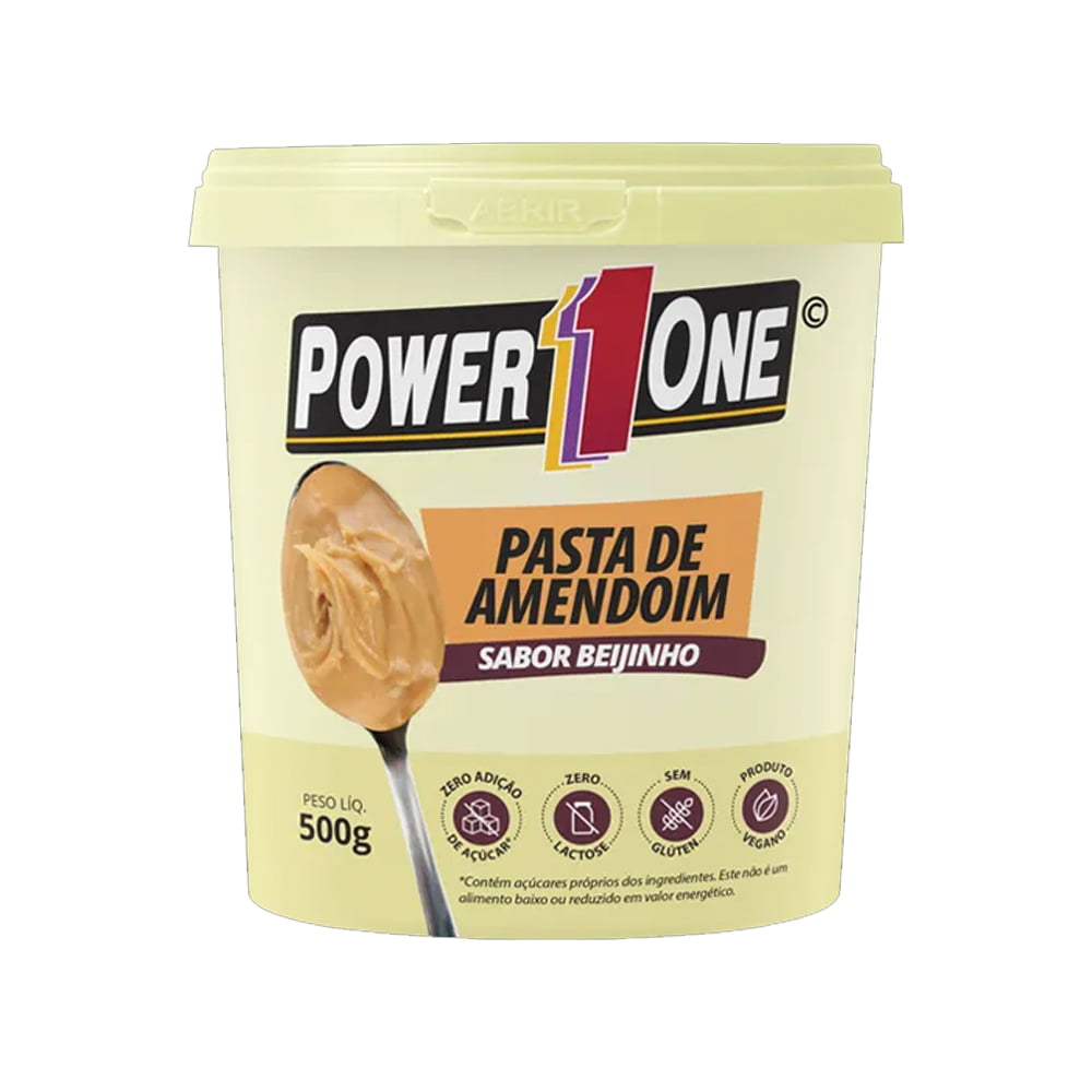 pasta de amendoim 500gr beijinho power one