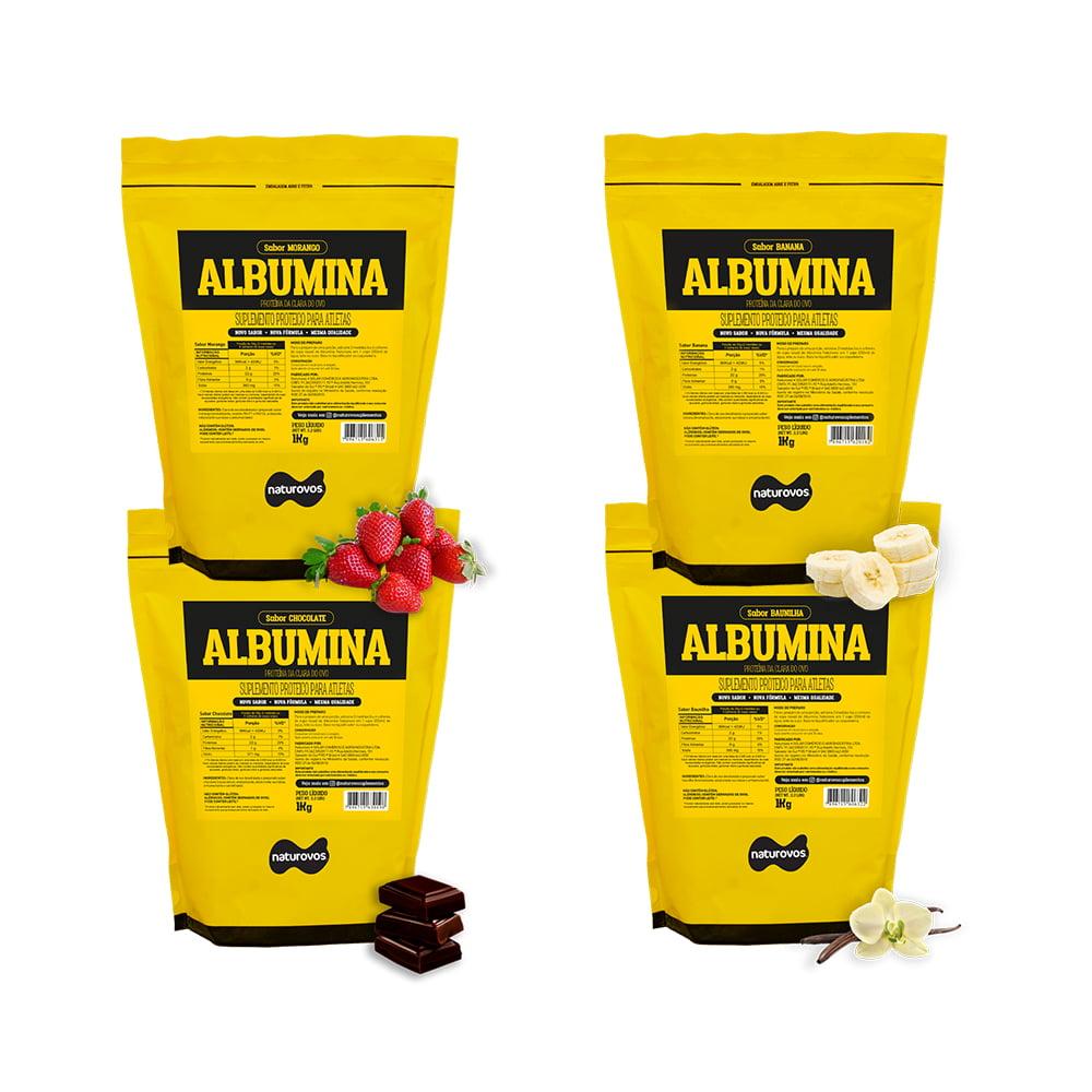 albumina sabores 1kg naturovos