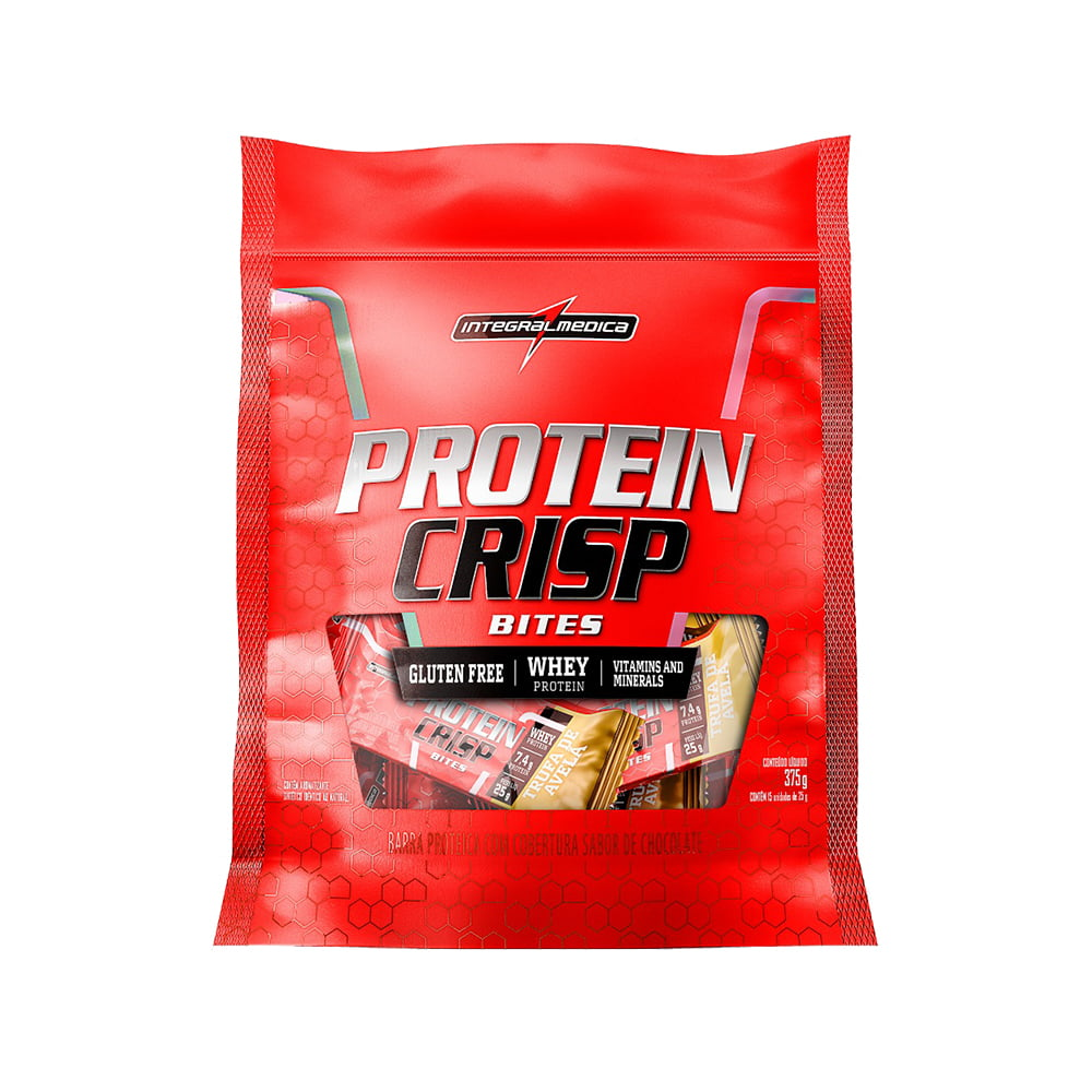protein crisp bar bites 375gr integralmedica