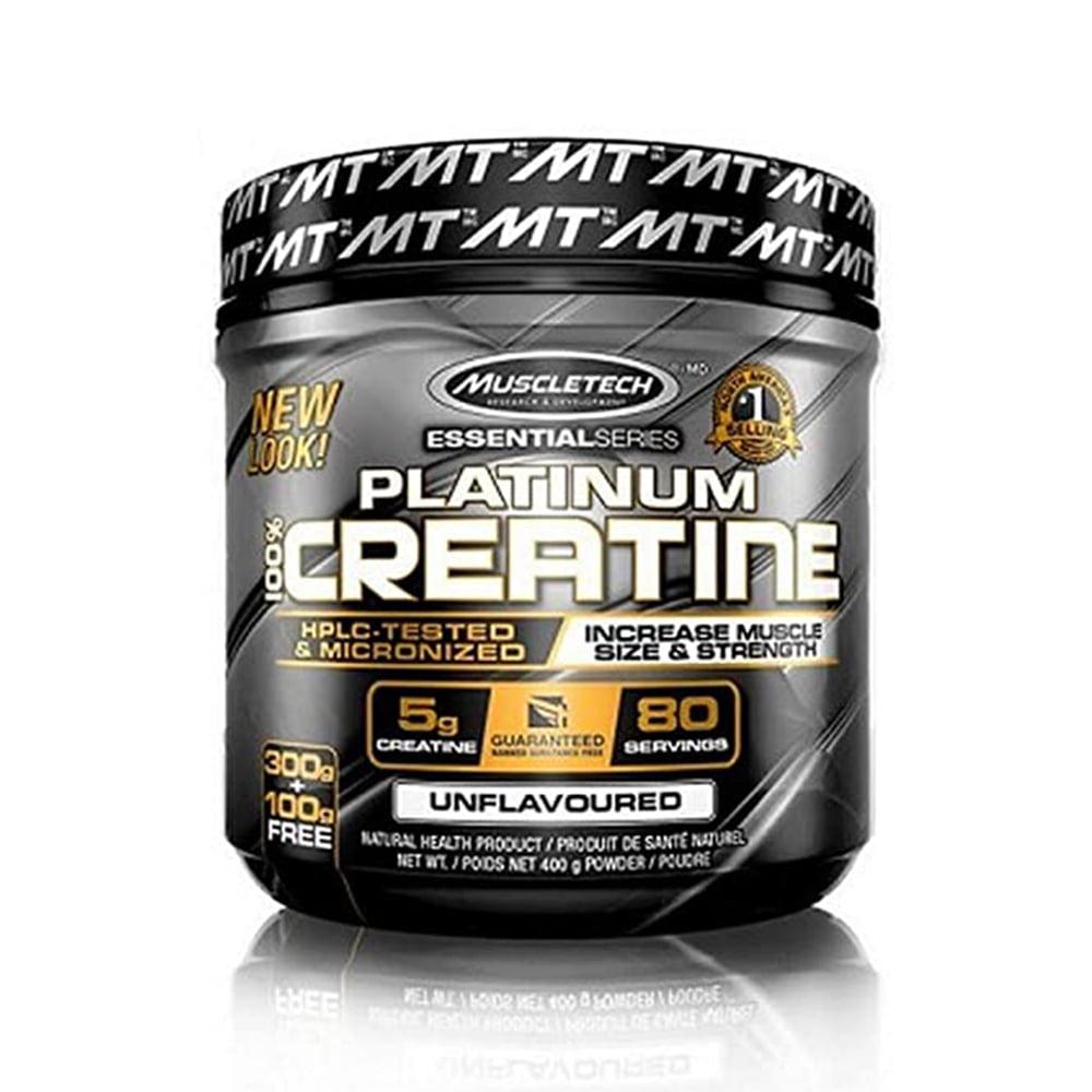 creatina platinum 400gr muscletech