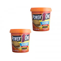 2 pasta de amendoin 1kg crocante power one