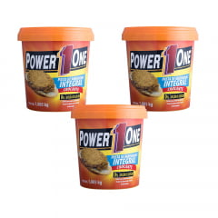 3 pasta de amendoim 1kg crocante power one