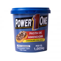 pasta de amendoim 1kg chocolate c/ avelã power one