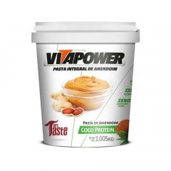 pasta de amendoim 1kg coco protein vitapower