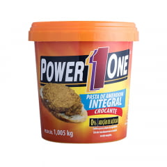 pasta de amendoim 1kg crocante power one