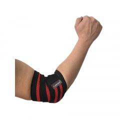 faixa para cotovelos ( Par )preto/vermelho prottector