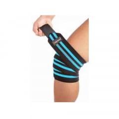 faixa para joelhos 2m ( par )preta/azul prottector