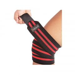 faixa para joelhos 2m ( par )preta/vermelha prottector